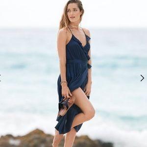 🦋 Roxy  rooftop sunrise midi wrap dress women's